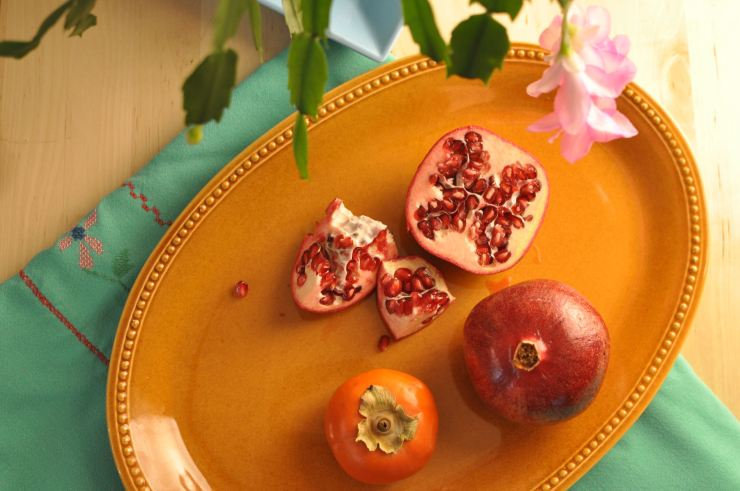 Pomegranates and Persimmons