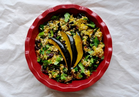 Acorn Squash and Brown Rice Salad