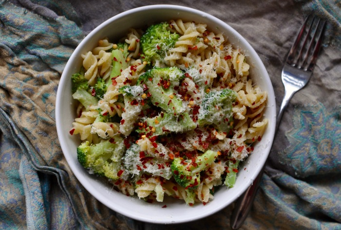 Broccoli Pasta with Chillies